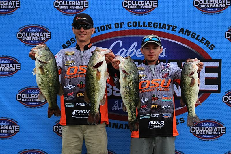 Oklahoma state takes lead after day one of the 10th for College bass fishing