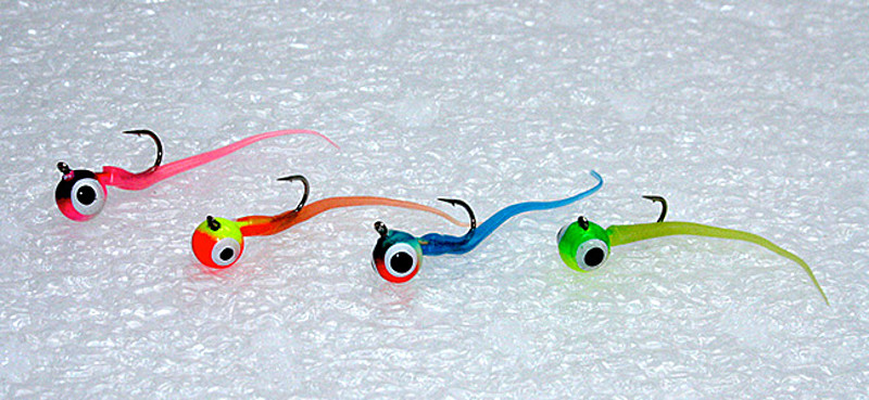 Tricked out tungsten for Tungsten ice fishing jig